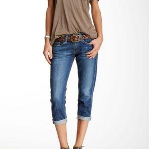 AG Piper Crop Slouchy Slim Boyfriend Jeans Sz 28